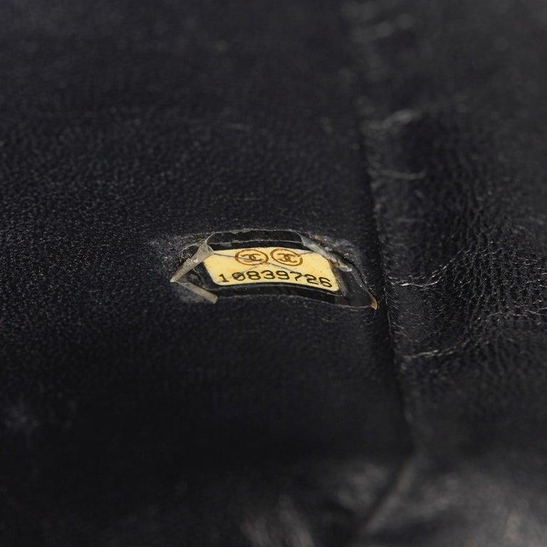 2006 Chanel Black Caviar Leather Jumbo  Classic Single Flap Bag  For Sale 5