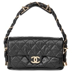 2006 Chanel Black Quilted Aged Calfskin Leather Classic Single Flap Bag