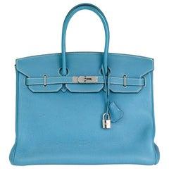 2006 Hermès Blue Jean Togo Leather Birkin 35cm