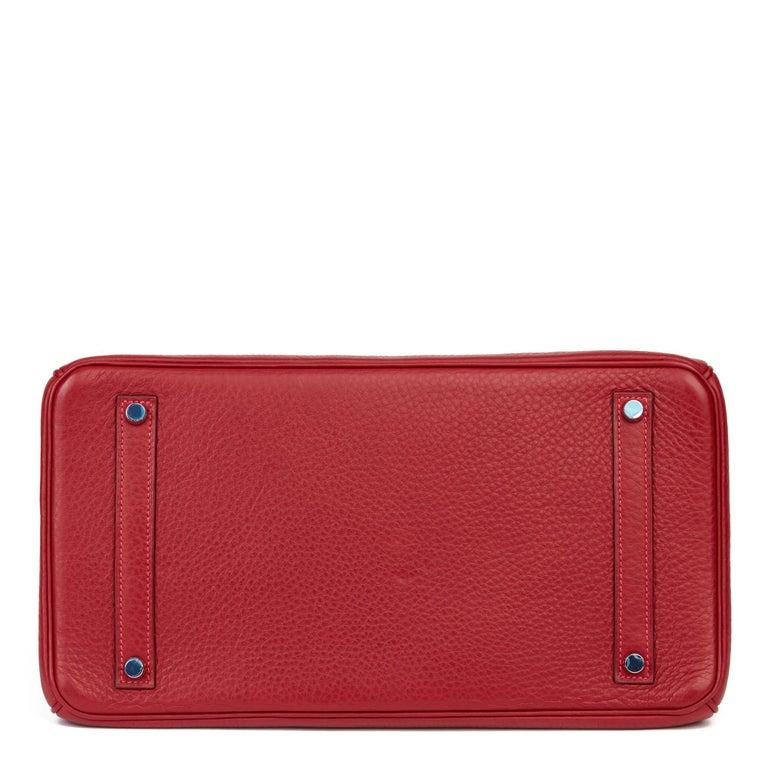 2006 Hermès Rouge Garance Fjord Leather Birkin 35cm For Sale 1