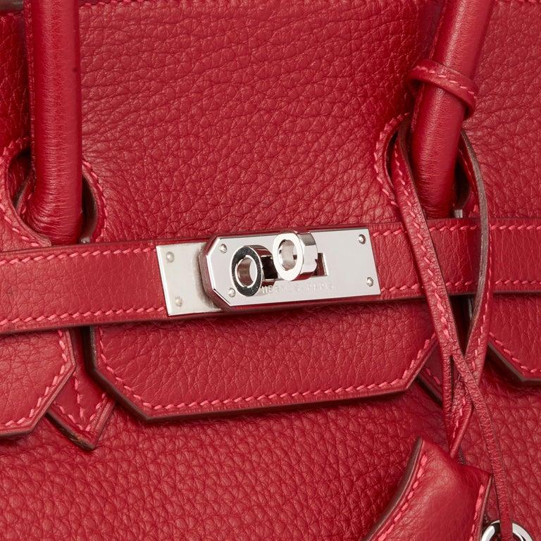 2006 Hermès Rouge Garance Fjord Leather Birkin 35cm For Sale 2