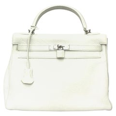 2006 Hermès White Leather Kelly 32 Bag