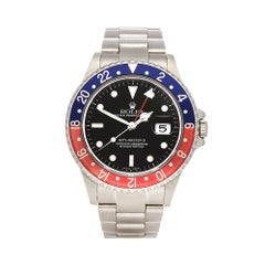 2006 Rolex GMT-Master II Pepsi Stainless Steel 16710 Wristwatch
