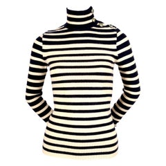 2007 BALENCIAGA by NICOLAS GHESQUIERE striped runway turtleneck sweater