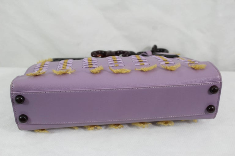 Dior 2007 Christian Dior Limited Edition Samourai Clutch In Purple Leather WRHr4W