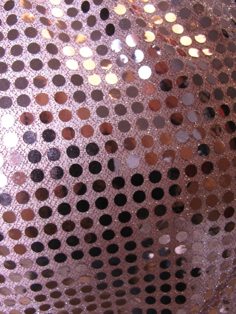 2007 Comme des Garcons pink sequin skirt elastic waist In Excellent Condition For Sale In Austin, TX
