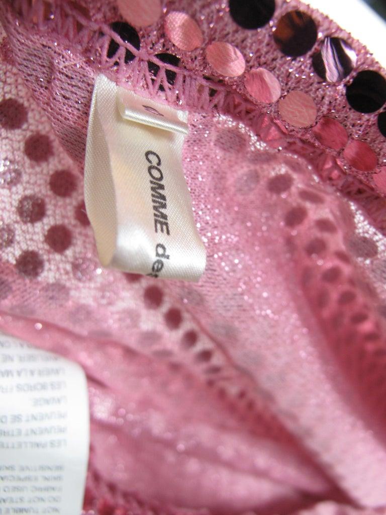 2007 Comme des Garcons pink sequin skirt elastic waist For Sale 1