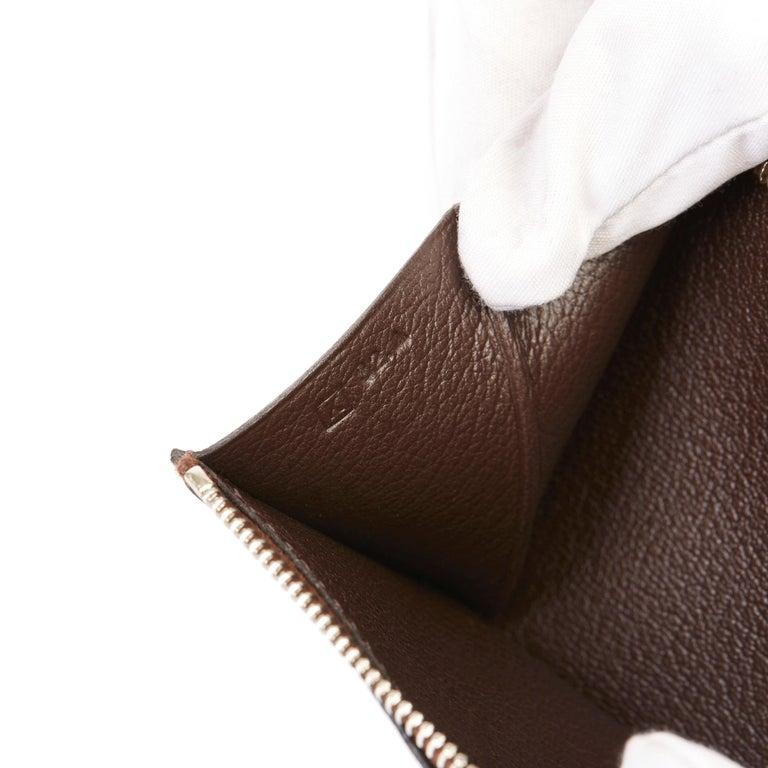 2007 Hermès Havane Shiny Porosus Crocodile Leather Diamond Bearn Wallet For Sale 6