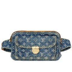 2007 Louis Vuitton Blue Monogram Denim Bum Bag