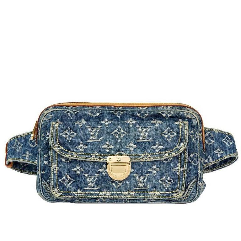 acd0d32132c8 2007 Louis Vuitton Blue Monogram Denim Bum Bag For Sale.
