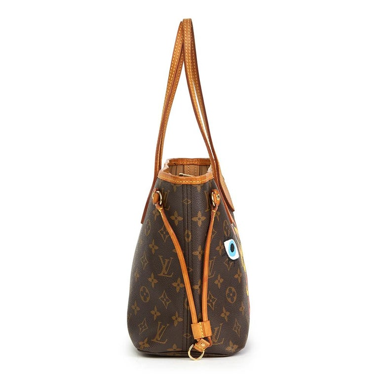 Brown 2007 Louis Vuitton Xupes X Year Zero London 'Hey Good Lookin' Neverfull PM For Sale