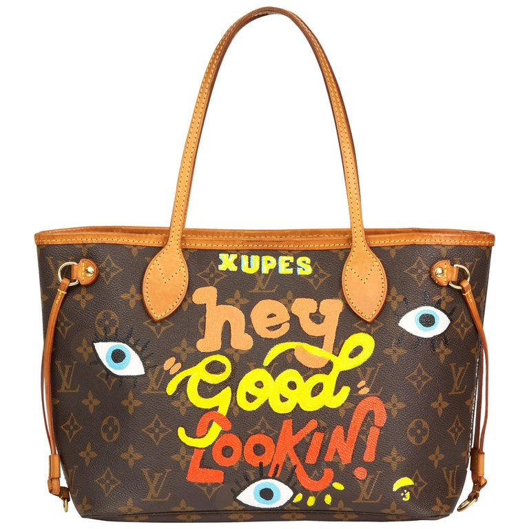 2007 Louis Vuitton Xupes X Year Zero London 'Hey Good Lookin' Neverfull PM For Sale