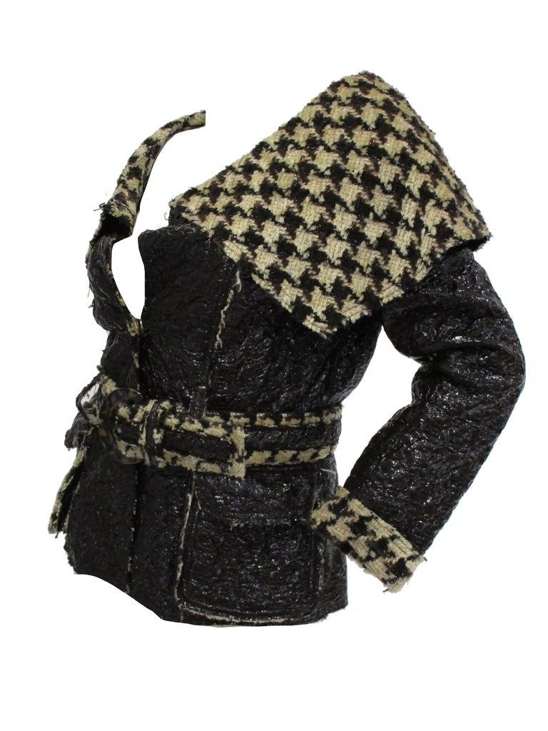 Women's 2007 Oscar De La Renta Houndstooth Jacket For Sale