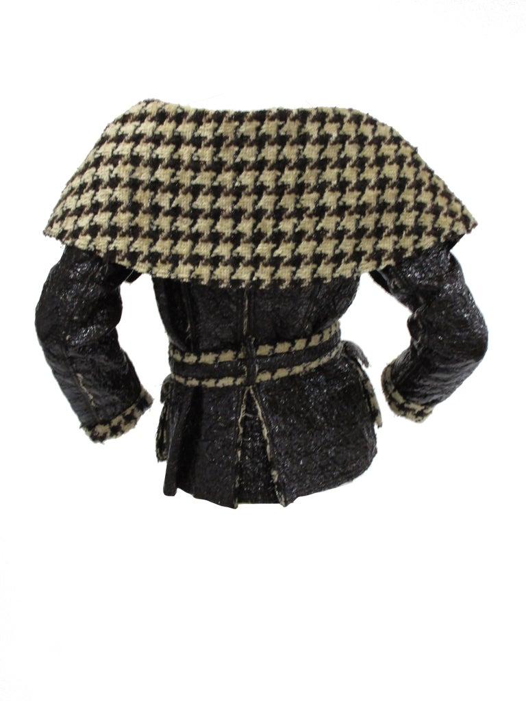 2007 Oscar De La Renta Houndstooth Jacket For Sale 1