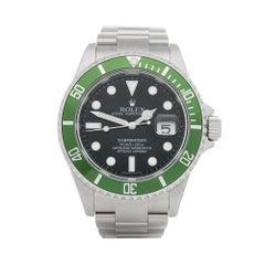 2007 Rolex Submariner Kermit NOS Stainless Steel 16610LV Wristwatch