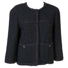 2007s Black Chanel Tweed Boucle Jacket