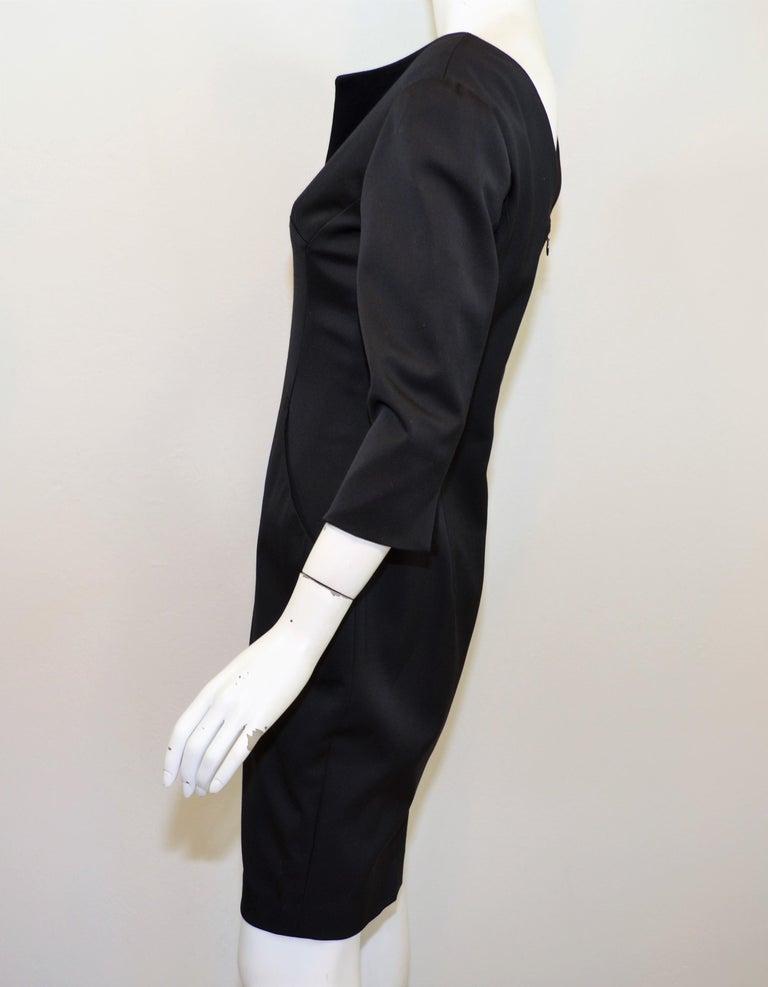 Women's 2008 Alexander McQueen Black 3/4 Sleeve Dress For Sale