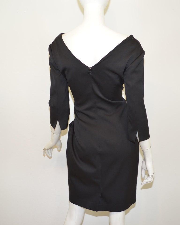 2008 Alexander McQueen Black 3/4 Sleeve Dress For Sale 1