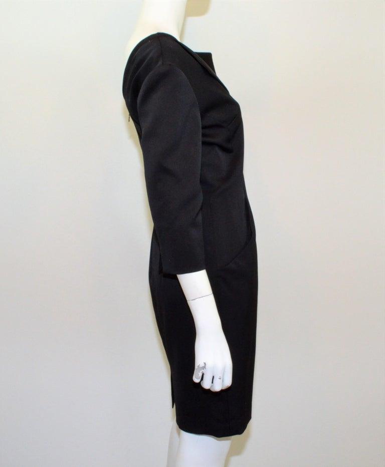 2008 Alexander McQueen Black 3/4 Sleeve Dress For Sale 2