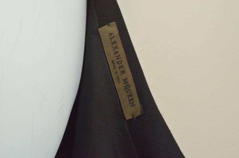 2008 Alexander McQueen Black 3/4 Sleeve Dress For Sale 3