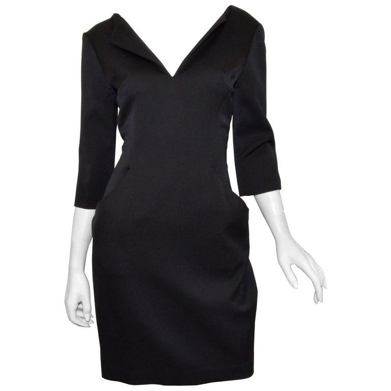 2008 Alexander McQueen Black 3/4 Sleeve Dress For Sale
