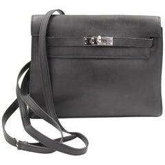 2008 Black Hermes Mini Kelly Danse  to be Worn Shoulder , Waist bag or Blackpack