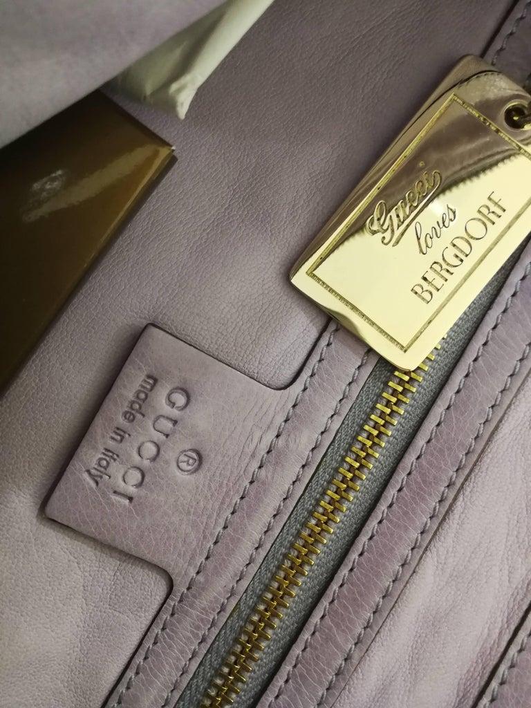 2008 Gucci unique limited edition crocodile leather hysteria lilla bag For Sale 6