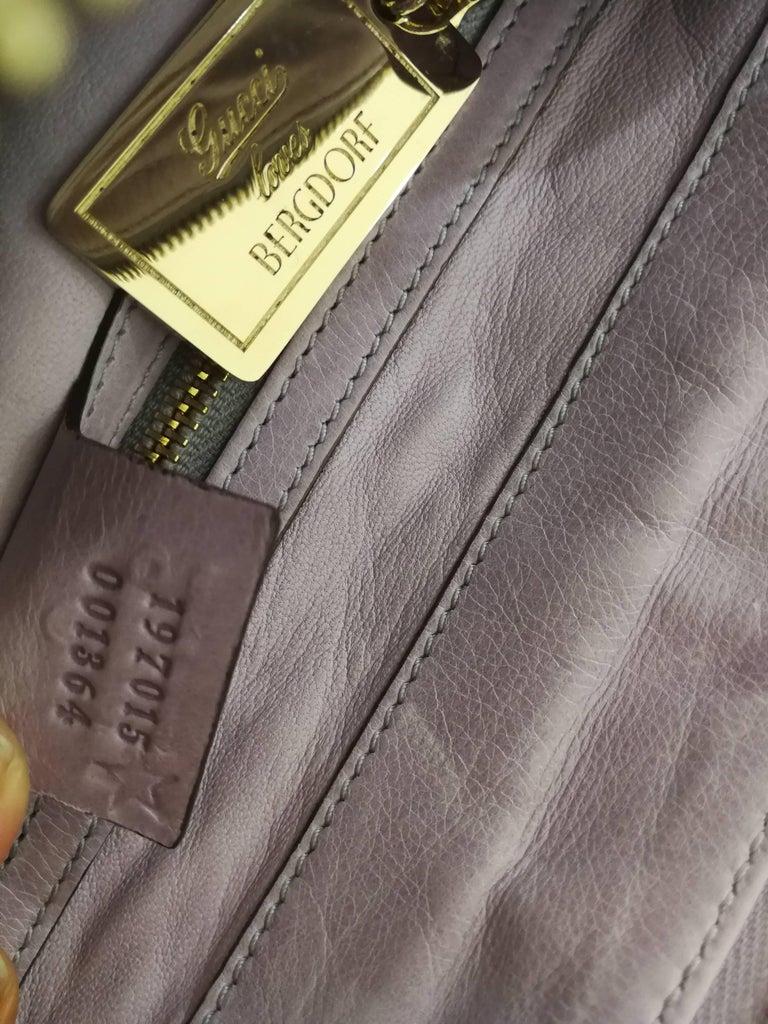 Gray 2008 Gucci unique limited edition crocodile leather hysteria lilla bag For Sale