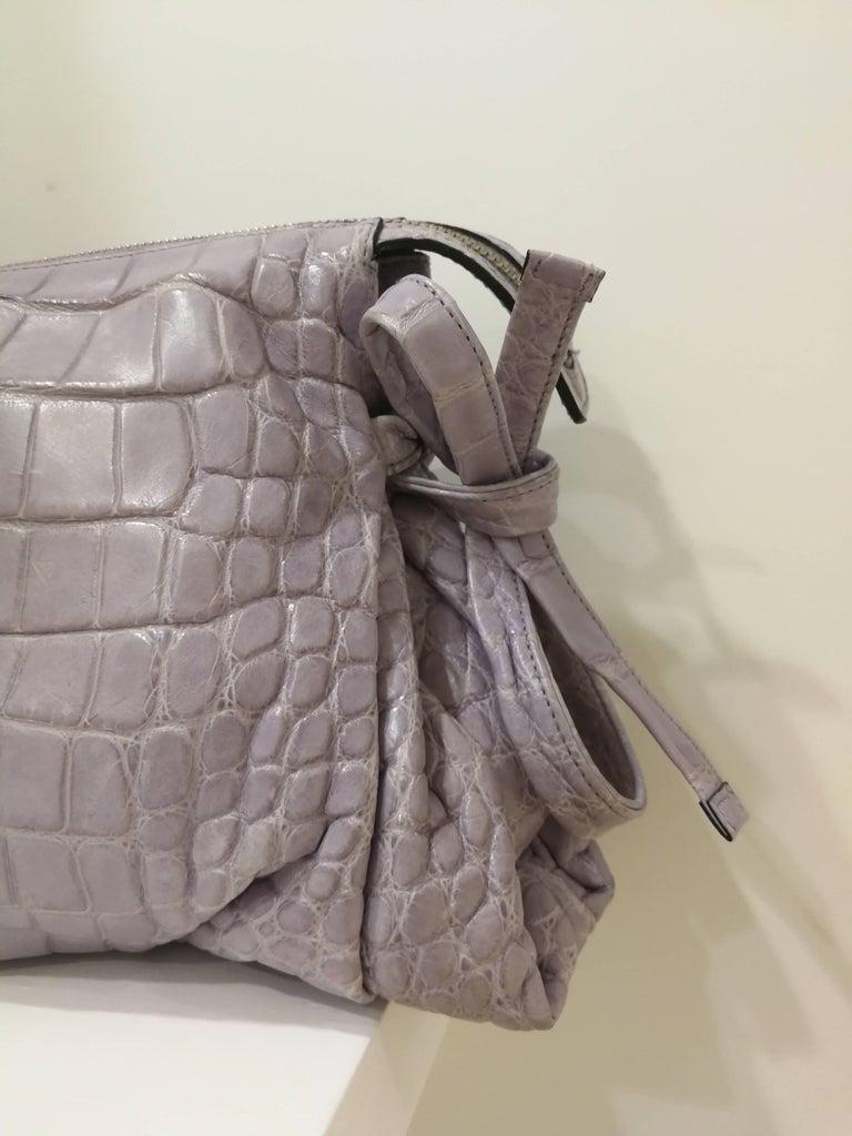 2008 Gucci unique limited edition crocodile leather hysteria lilla bag For Sale 1