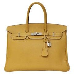2008 Hermés amber yellow 35 birkin bag