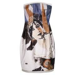 2008 ICONIC ALEXANDER MCQUEEN 'GOD SAVE THE QUEEN' DRESS Size 42