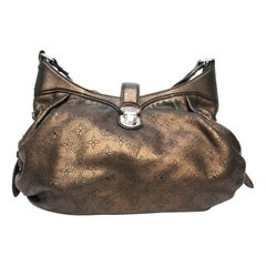2008 Louis Vuitton Metallic Mordore Monogram Mahina Leather XS Bag