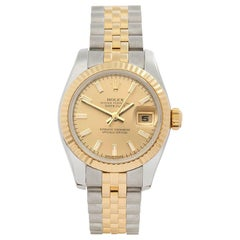 2008 Rolex Datejust Steel and Yellow Gold 179173 Wristwatch