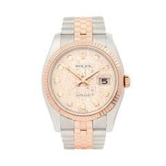 2008 Rolex Datejust Steel & Rose Gold 116231 Wristwatch