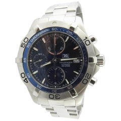 2008 TAG Heuer Aquaracer CAF2112 Men's Watch Blue Dial Stainless Steel Automatic