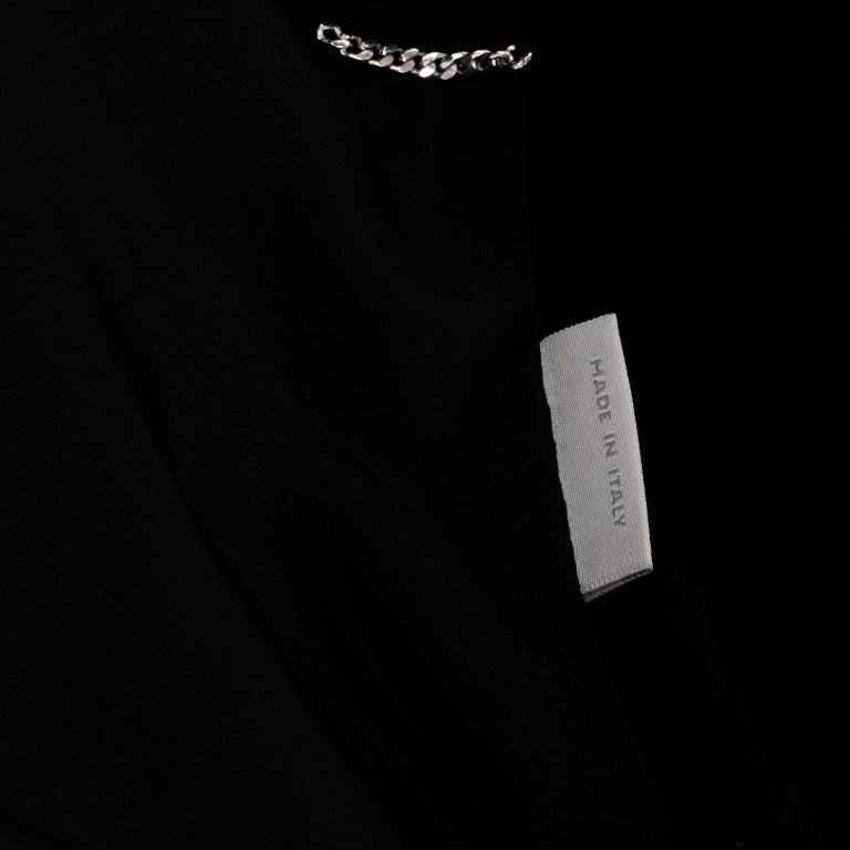 2009 Alexander McQueen Black Silk Cutaway Cropped Tuxedo Jacket With Tails For Sale 11
