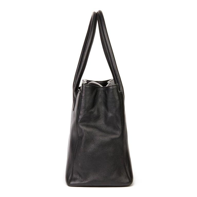 2009 Chanel Black Calfskin Leather Cerf Tote In Good Condition For Sale In Bishop's Stortford, Hertfordshire