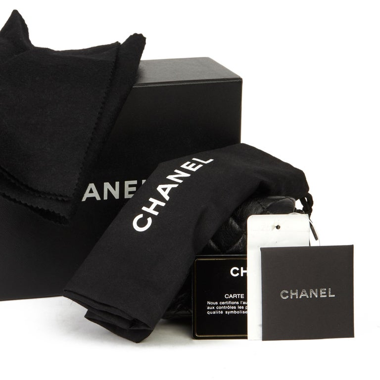 2009 Chanel Black Quilted Lambskin 2.55 Reissue Micro Ankle Flap Bag  For Sale 9
