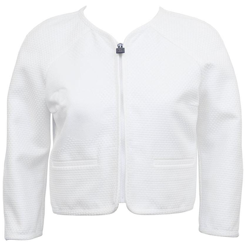 2009 Chanel Identification White Pique Jacket