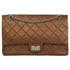 2009 Chanel Metallic Aged Calfskin Leather 2.55 Reissue 227 Double Flap bag