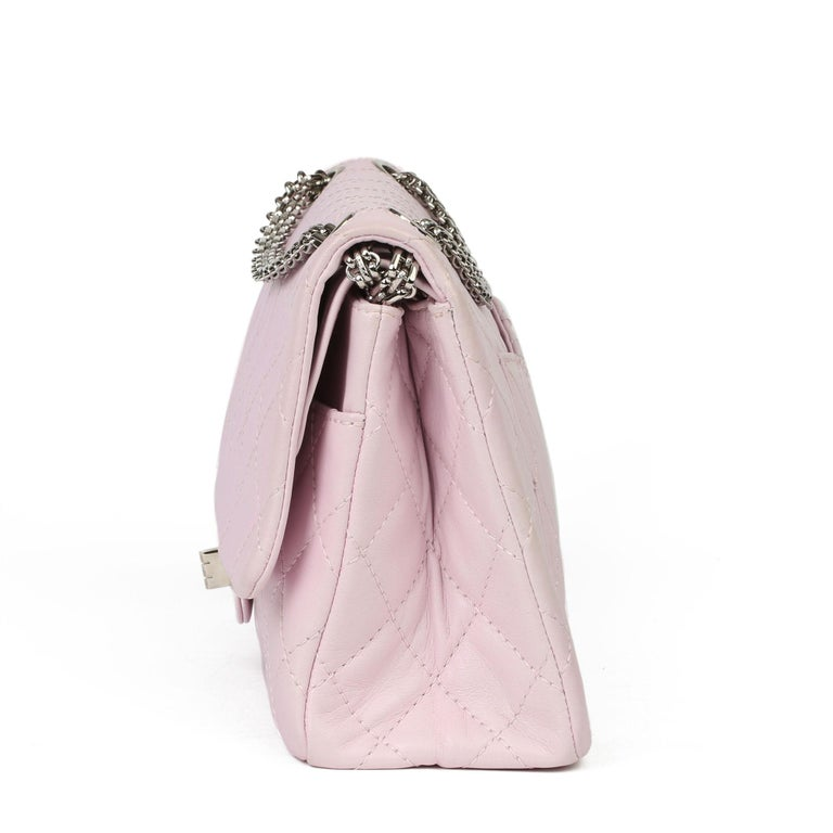2009 Chanel Sakura Pink Quilted Lambskin 2.55 Reissue 226 Flap Bag In Excellent Condition For Sale In Bishop's Stortford, Hertfordshire