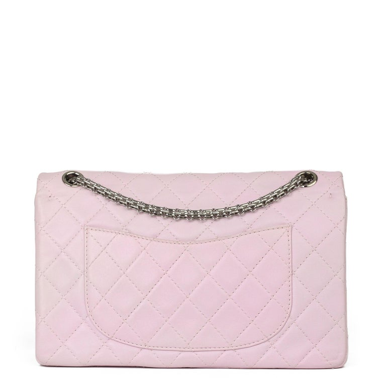 Women's 2009 Chanel Sakura Pink Quilted Lambskin 2.55 Reissue 226 Flap Bag For Sale