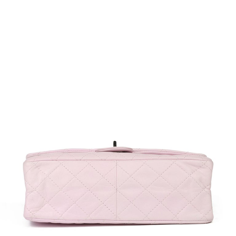 2009 Chanel Sakura Pink Quilted Lambskin 2.55 Reissue 226 Flap Bag For Sale 1