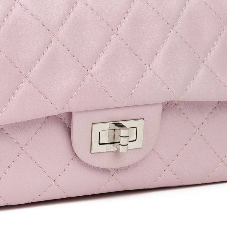 2009 Chanel Sakura Pink Quilted Lambskin 2.55 Reissue 226 Flap Bag For Sale 2