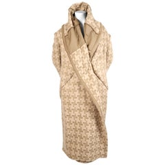 2009 COMME DES GARCONS houndstooth wool draped runway coat