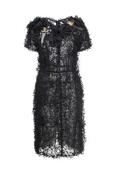 2009 Dolce & Gabbana Black Embellished Dress