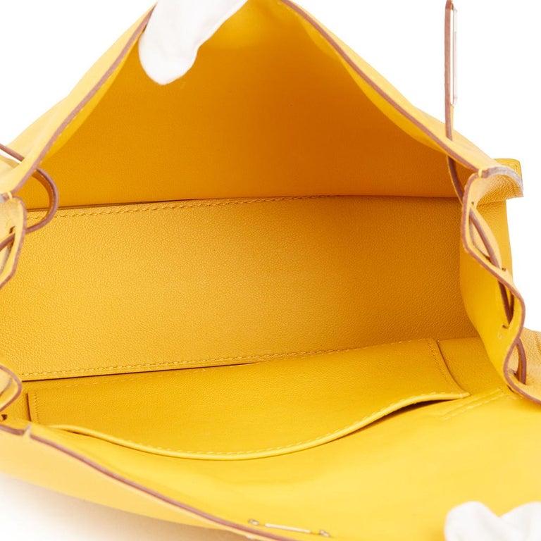 2009 Hermès Jaune d'or Swift Leather Kelly Danse For Sale 5