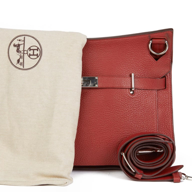 2009 Hermès Rouge H Togo Leather Jypsiere 37  For Sale 6