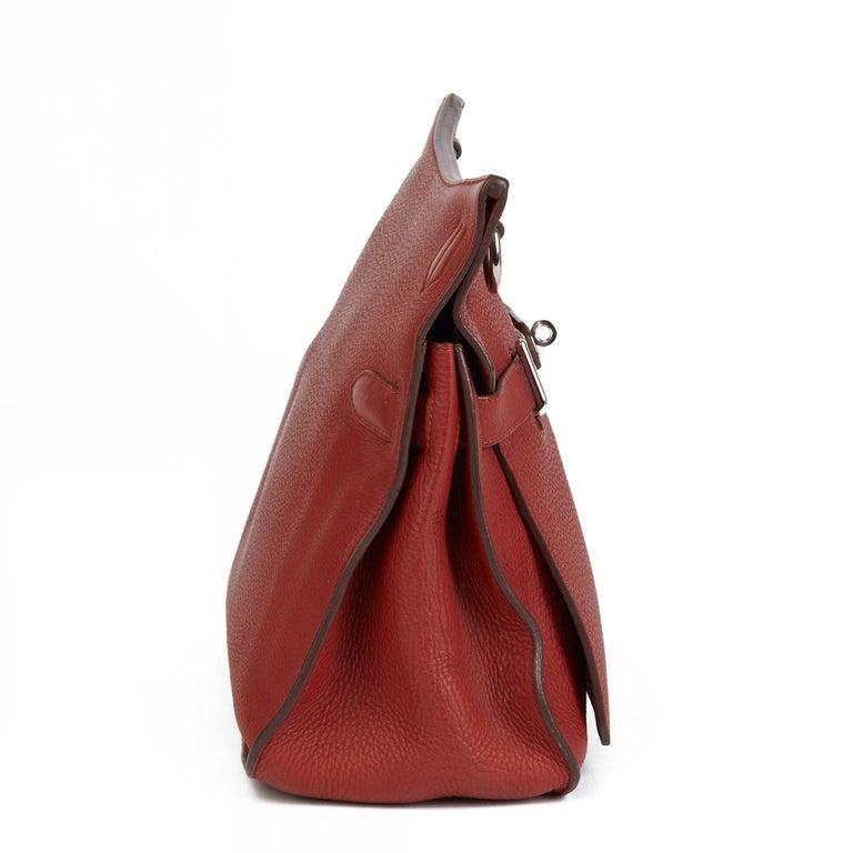 Brown 2009 Hermès Rouge H Togo Leather Jypsiere 37  For Sale
