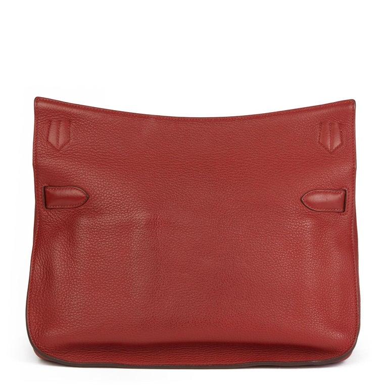 Women's 2009 Hermès Rouge H Togo Leather Jypsiere 37  For Sale
